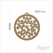 Bolinha de Estrela Natal 10cm