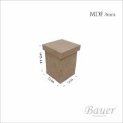 Caixa Porta Algodão 7,5x7,5x11