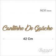Cantinho Do Gaúcho Cursivo 42 cm