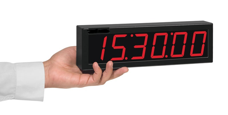 Relógio Digital De Parede 6 Dígitos Rdi-2P / 20 Mts Visibilidade