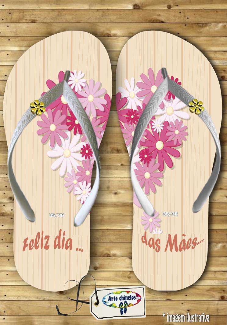 Chinelos personalizados dia das mães mod. 10