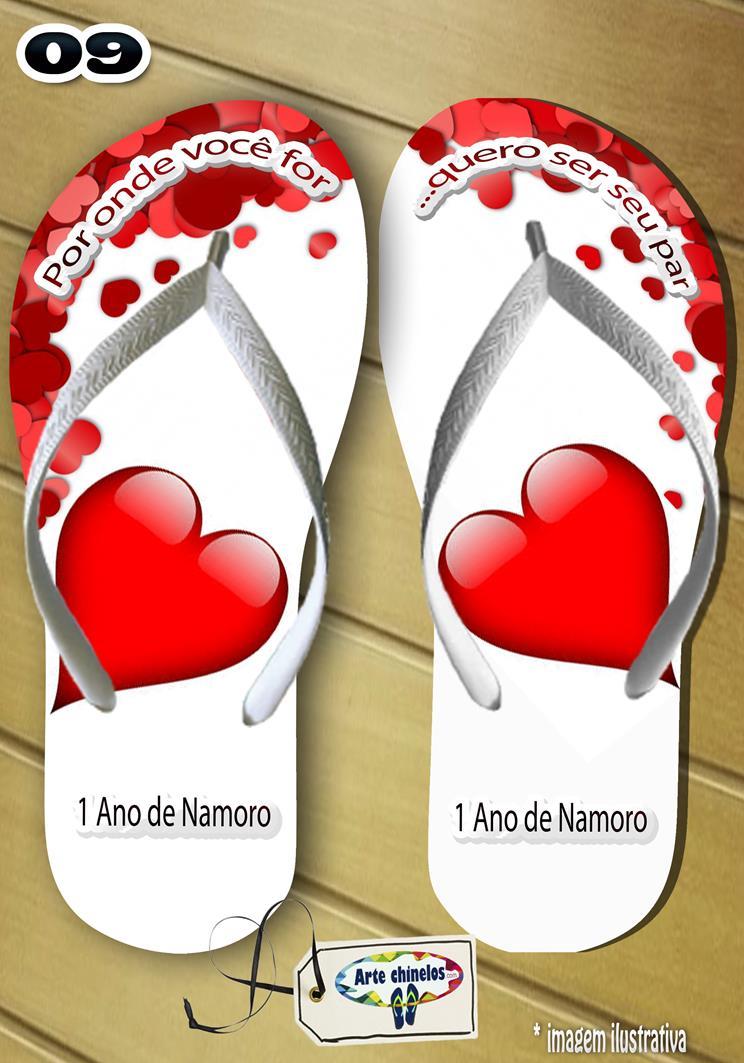 Chinelos personalizados para casamento, lembrancinha mod. 24