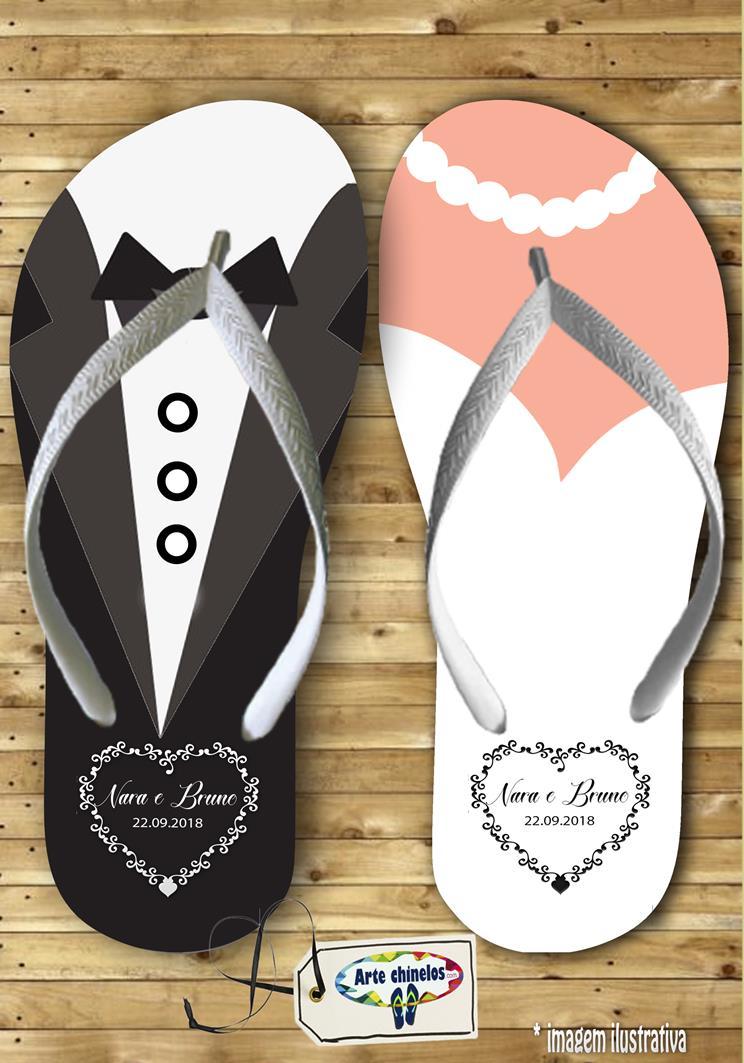 Chinelos personalizados para casamento, lembrancinha mod. 39