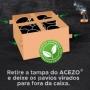 Carvão Premium Briquete Brasa Rápida Acezo 3kg