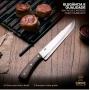 Faca Artesanal para Churrasco SG Wood 8 ponta larga - Sg Gramado