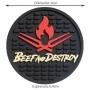 Porta Copos Beef and Destroy Mat Bolachinha - 6 Unidades