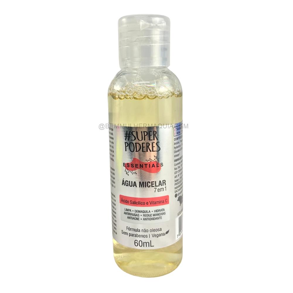 Agua Micelar  Acido Salicilico e Vitamina C  7em1 - Super Poderes (AASV01)