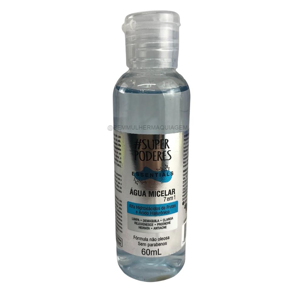 Agua Micelar  Alfa Hidroxiacidos de Frutas e Ácido Hialuronico 7em1 - Super Poderes (AHAH01)