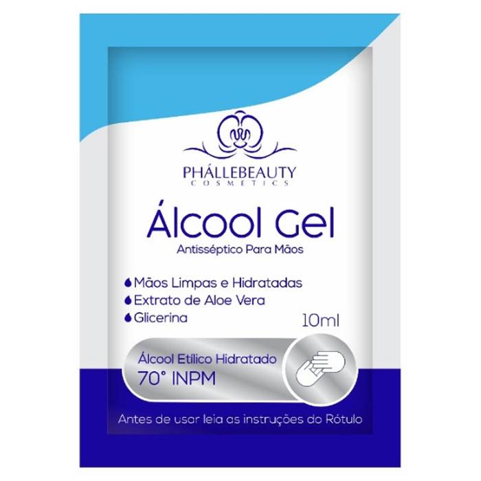 Álcool Gel Antisséptico para mãos Phallebeauty - PH0132