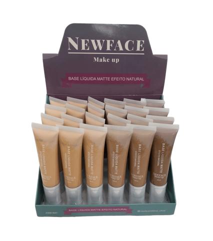 Base Líquida Matte Efeito Natural - New Face - Box com 24UN. (N41)