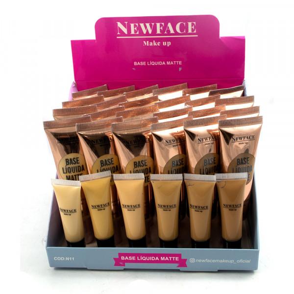 Base Líquida Matte - New Face - Box com 24Un. (N11)