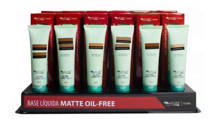Base Líquida Matte Oil Free - Max love Cor 101 á 109