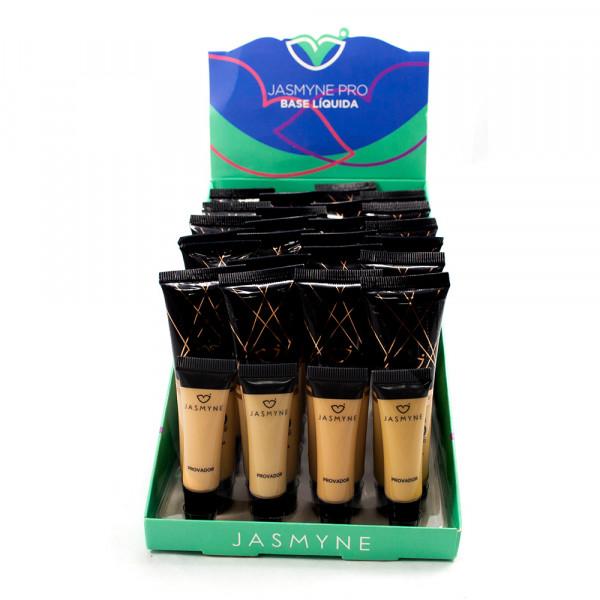 Base Liquida Pro box Cor B  Tons Escuros  - Jasmyne  - Box com 24 Un. (JS01031B)