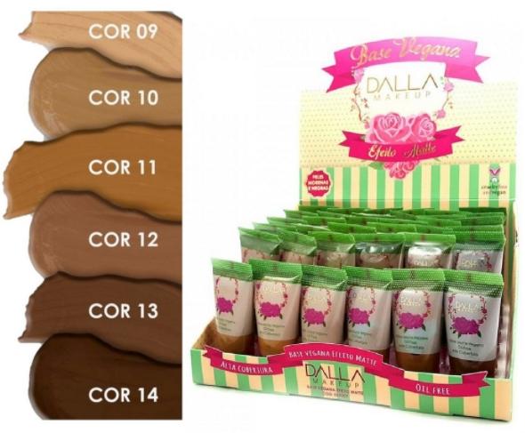 Base Líquida Vegana Matte  - Dalla - Box com 30Un. (DL0307)