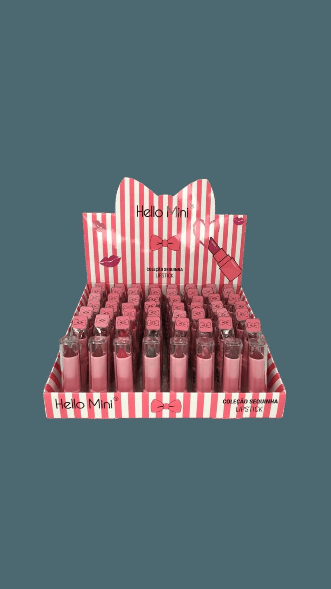 Batom Coleção Sequinha Lipstick - Hello Mini Box A - Box com 48Un. (Y127A)