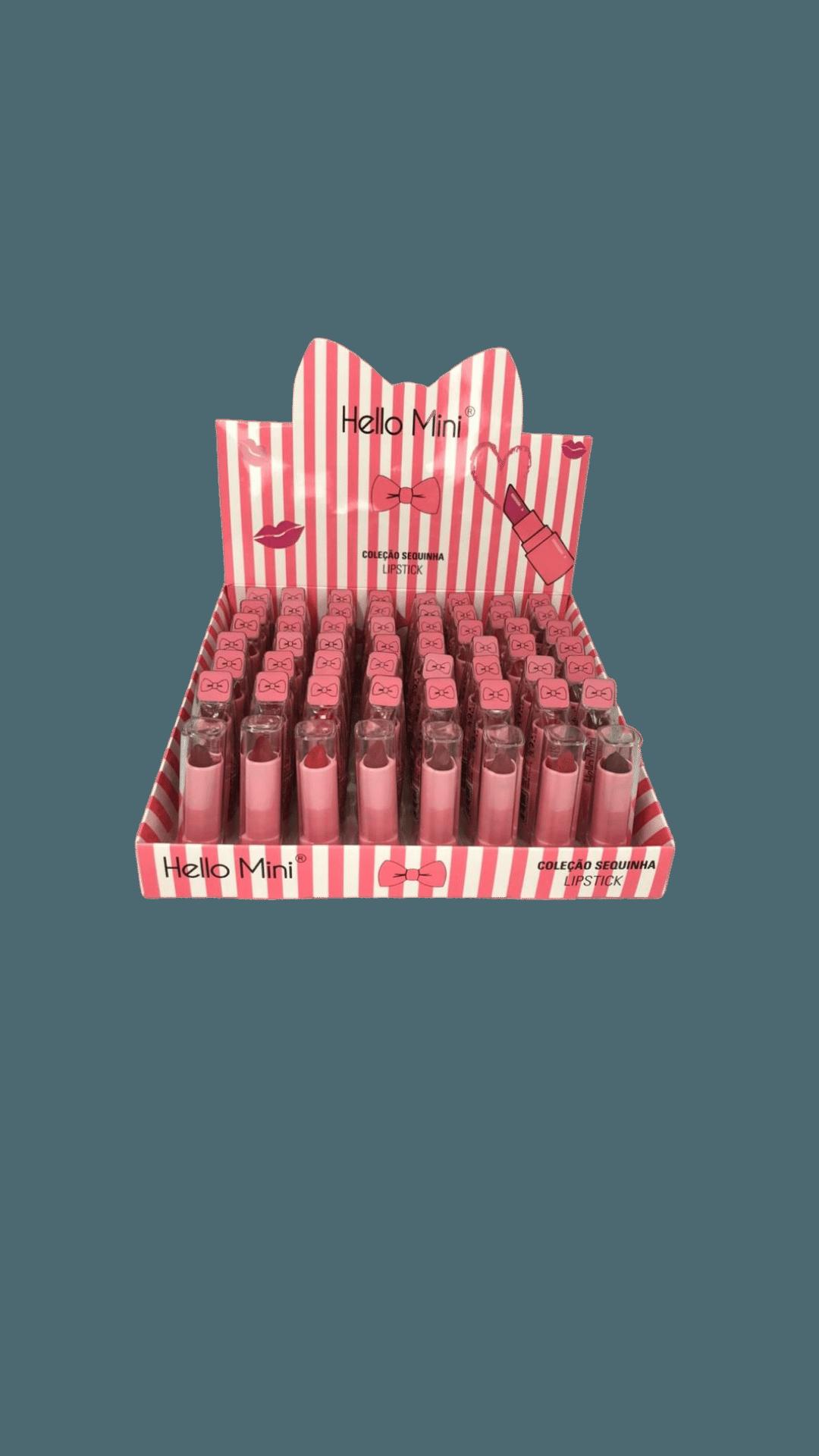 Batom Coleção Sequinha Lipstick - Hello Mini Box B - Box com 48Un. (Y127B)
