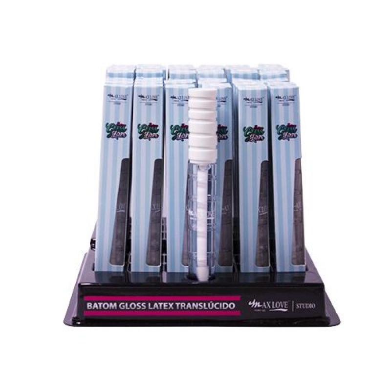 Batom Gloss Latex Incolor 07 ao 12 - Max Love - Box com 48un.
