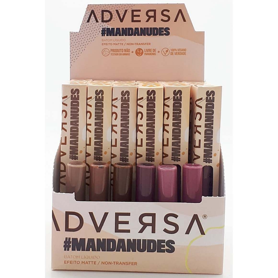 Batom Líquido Efeito Matte Manda Nudes - Adversa (AD301)