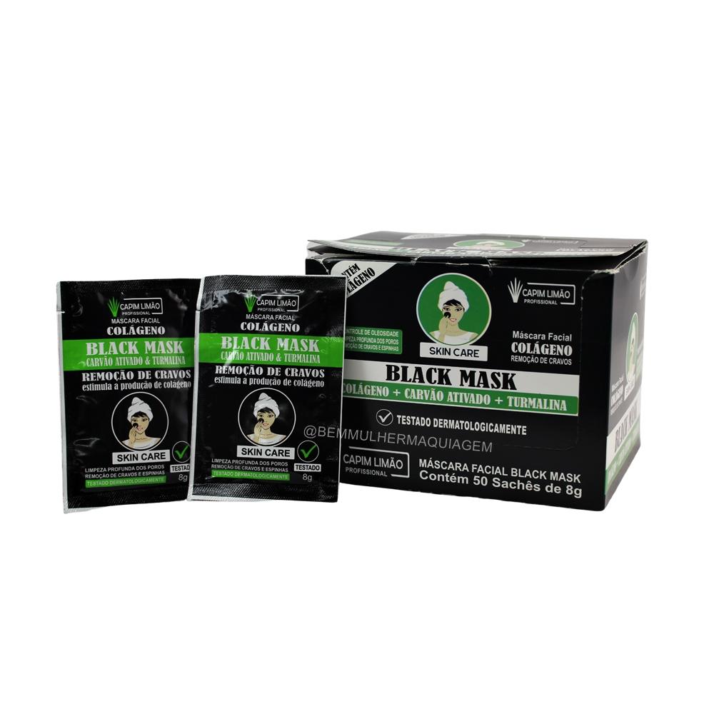 Black Mask Sachê - Capim Limão - Box com 50Un. (SA07)