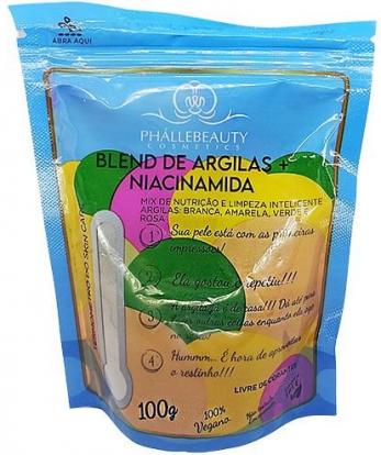 Blend De Argilas + Niacinamida 100g - Phallebeauty (PH0539)
