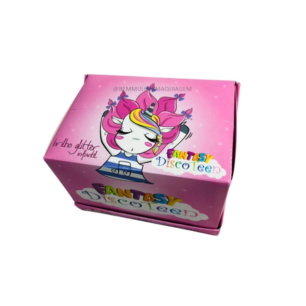 Brilho Glitter Infantil Fantansy Unicornio Discoteen C/ 24 Unid (DT0002)