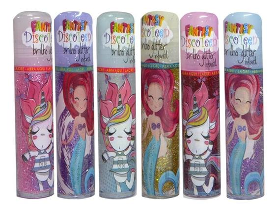 Brilho Glitter Infantil Sereia - Discoteen - Box com 24Un.  (DT0001)