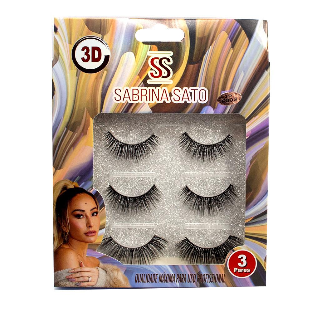 Cílios Postiços Magnéticos 3D Com 3Pares - Sabrina Sato (SS1237)