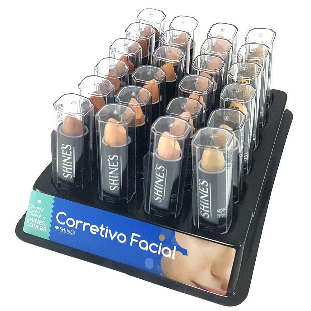 Corretivo Facial - Shine's - Box com 24Un. (SH045C)