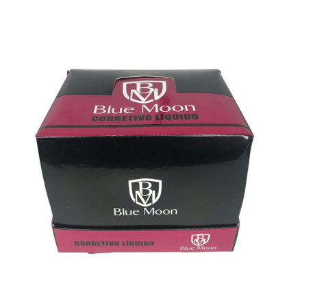 Corretivo Liquido Blue Moon - Box com 24Un. (BM003)