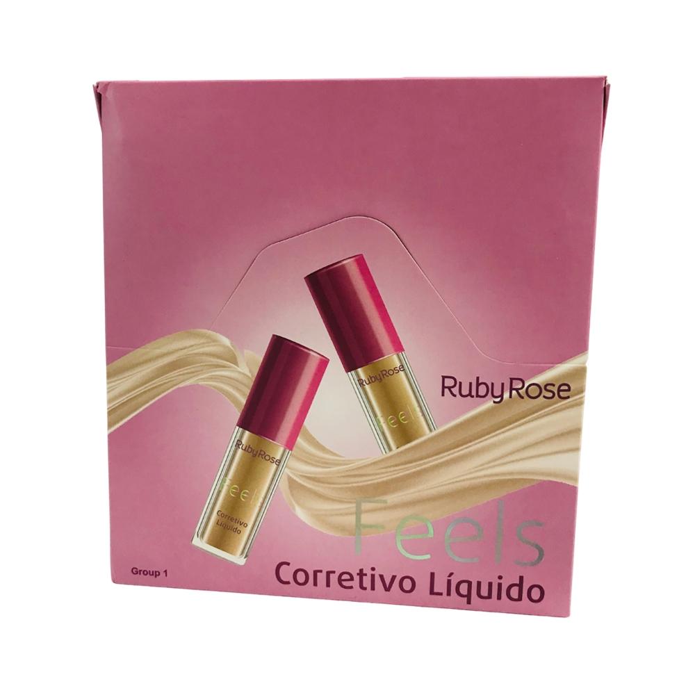 Corretivo Líquido Feels grupo 1 Ruby Rose c/ 36pç (HB8102)