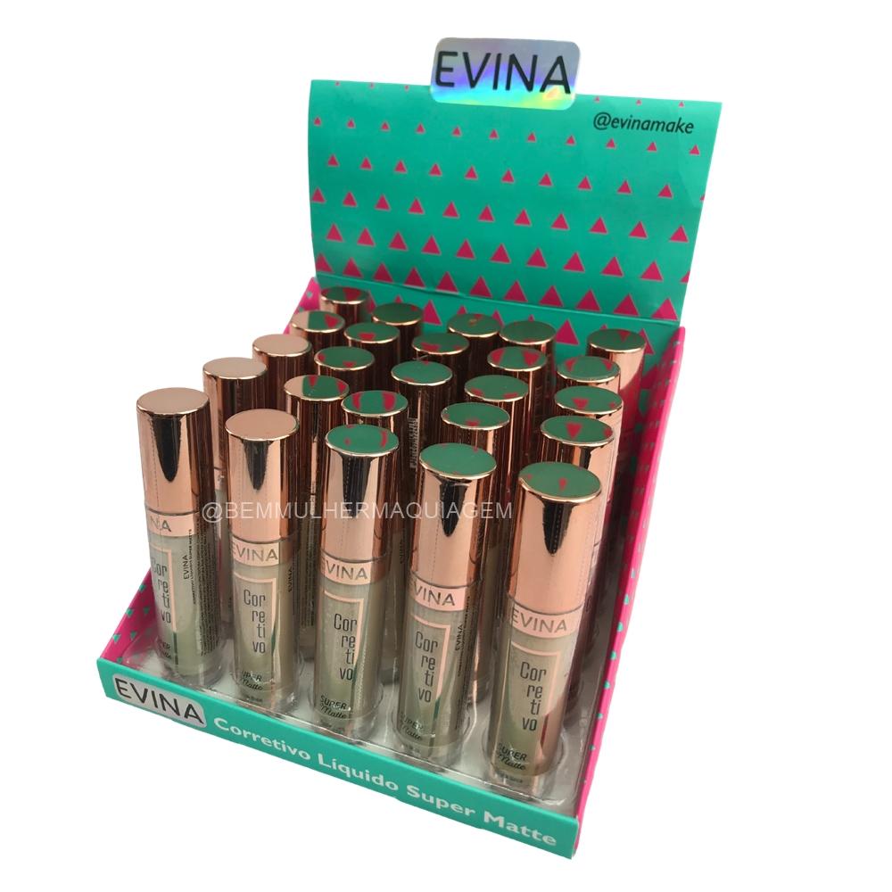 Corretivo Líquido Super Matte - Evina - Box com 25Un (EVCL036)