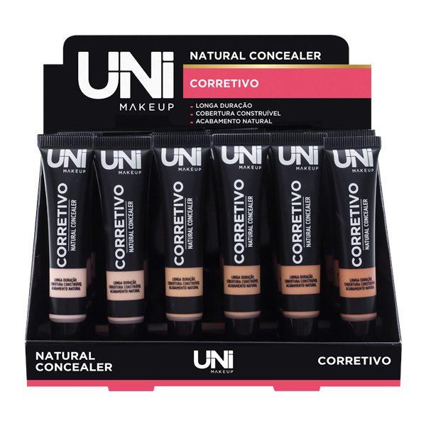 Corretivo Natural Concealer - Uni Makeup  - Box com 24Un. (UNCO115DS)
