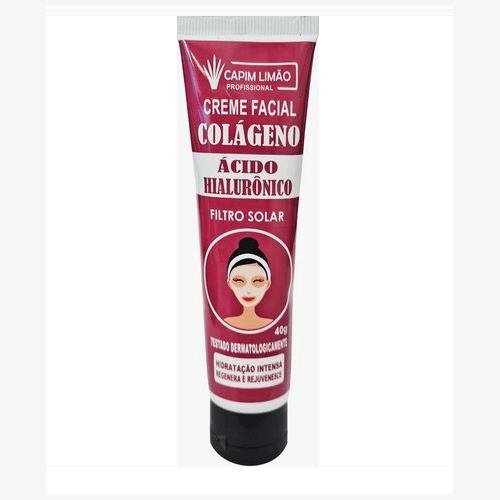 Creme Facial Ácido Hialurônico - Capim Limão 40G (CP08)