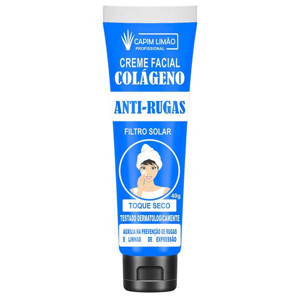 Creme Facial Colágeno Anti Rugas - Capim Limão 40G (CP02)