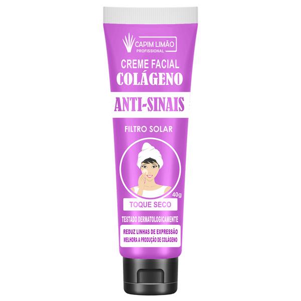 Creme Facial Colágeno Anti Sinais - Capim Limão 40G (CP01)