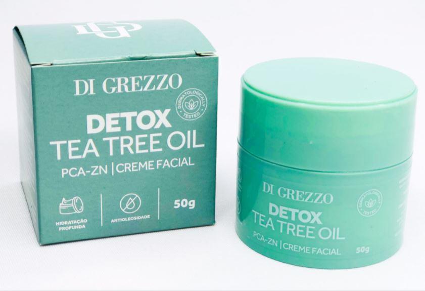 Creme Facial Detox Tea Tree Oil  - Di Grezzo