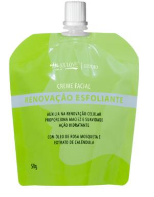 Creme Facial Pouch Renovação Esfoliante 50g - Max Love - (MXPCRE)