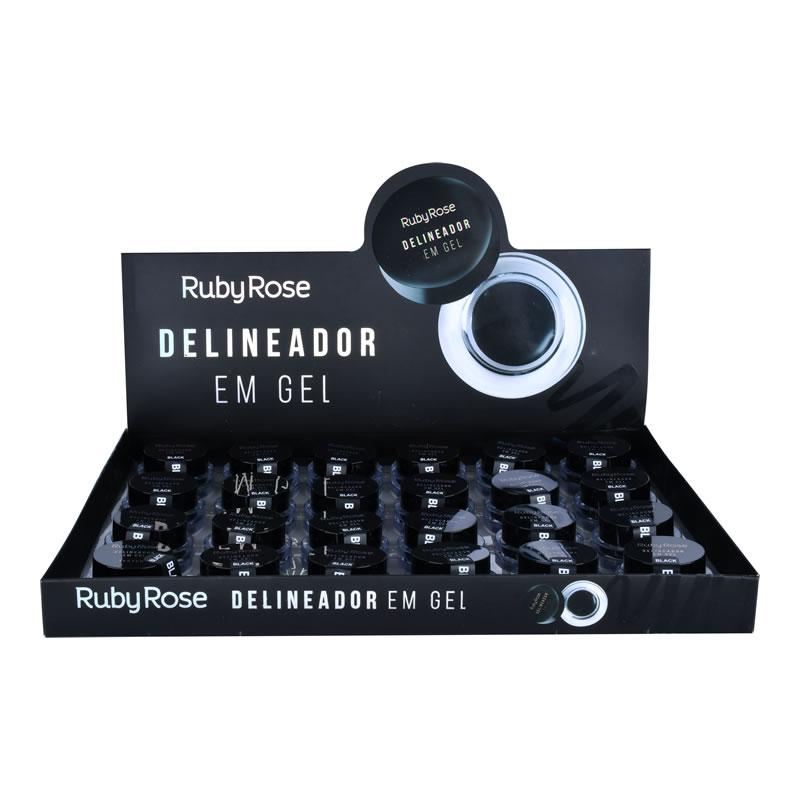 Delineador em Gel Black - Ruby Rose  (HB8401)