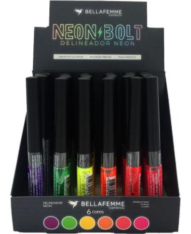 Delineador Neon Bolt - Bella Femme - Box com 24Un. (BF10093)