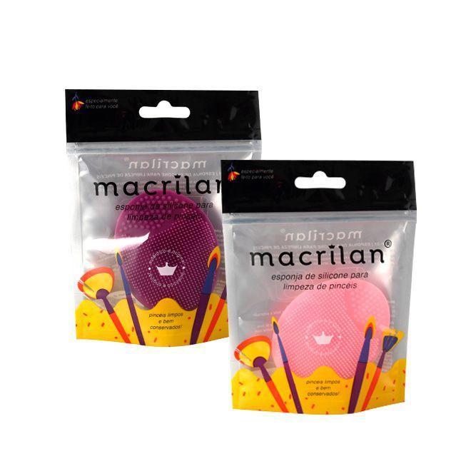 Esponja de Silicone Para Limpeza de Pincéis Macrilan - Und (CP01)