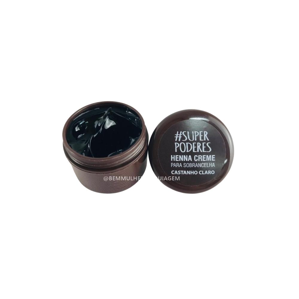 Henna Creme Castanho Claro - Super Poderes  (CRCCSP01)