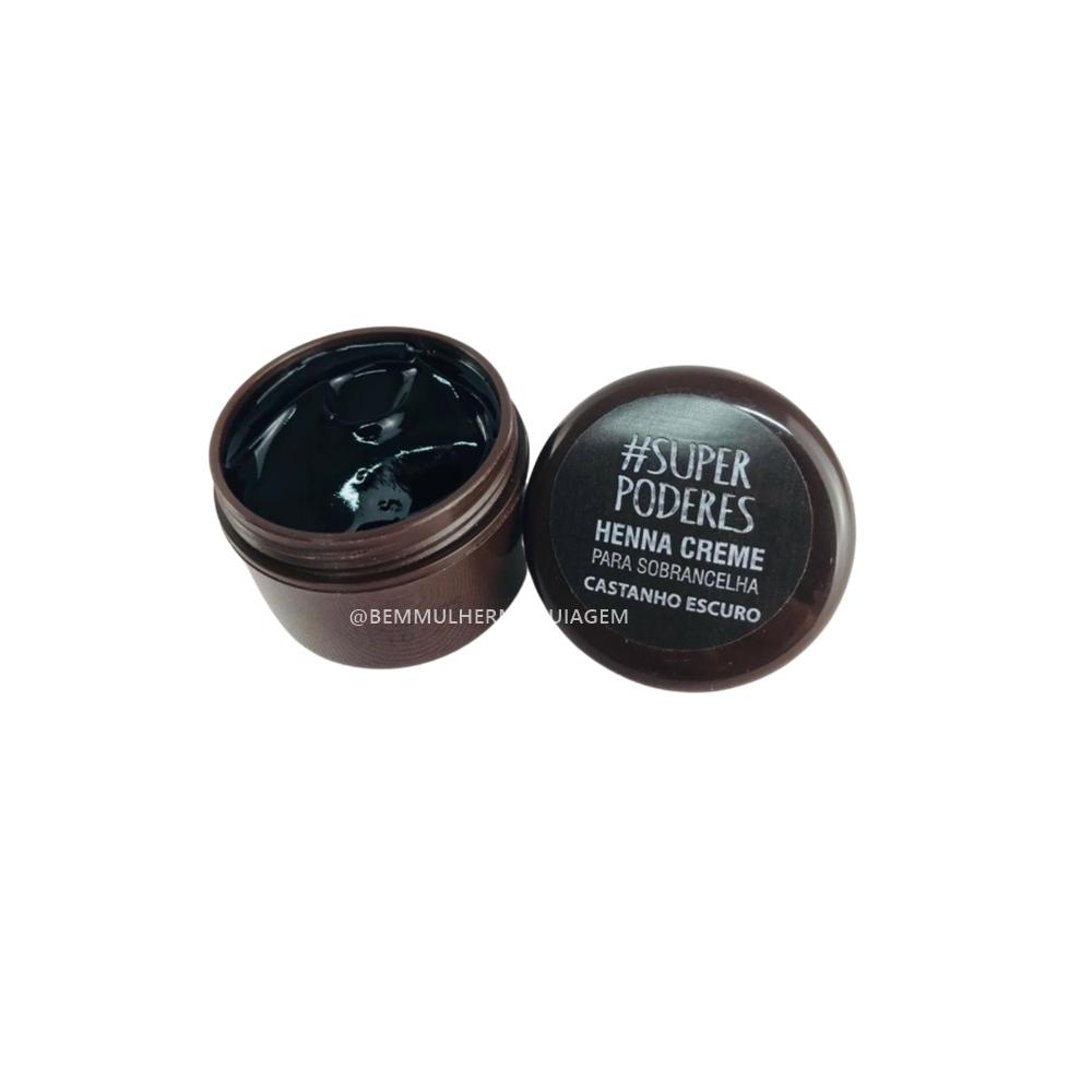 Henna Creme Castanho Escuro - Super Poderes   (CRCESP01)