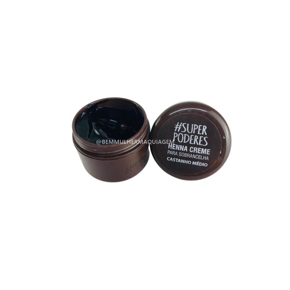Henna Creme Castanho Médio - Super Poderes  (CRCMSP01)