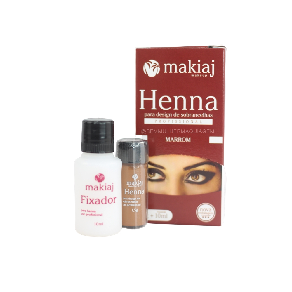 Henna + Fixador (Preto) - Makiaj