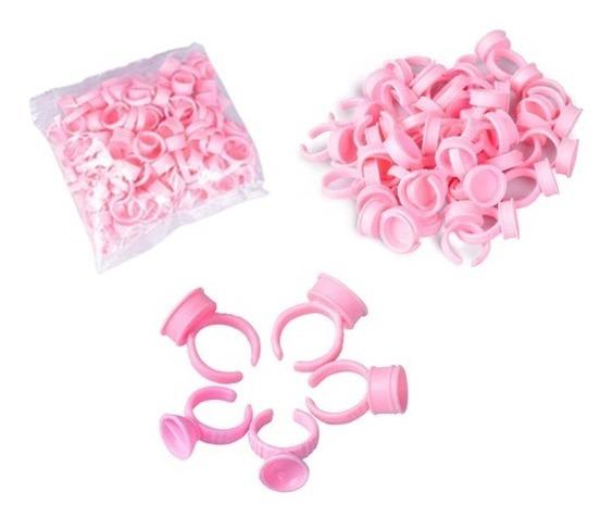 Kit Anel  - Pct com 50Un. Cor Rosa