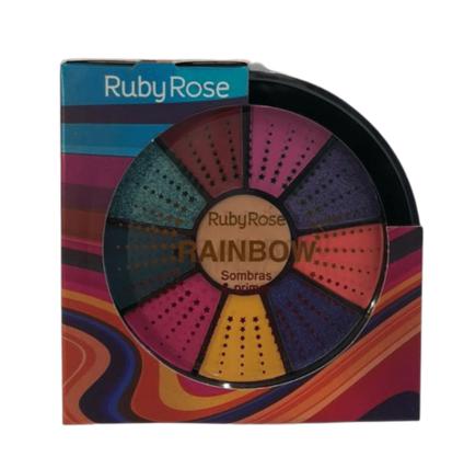Kit de 9 Sombras e 1 Primer Ruby Rose (HB9986/1)