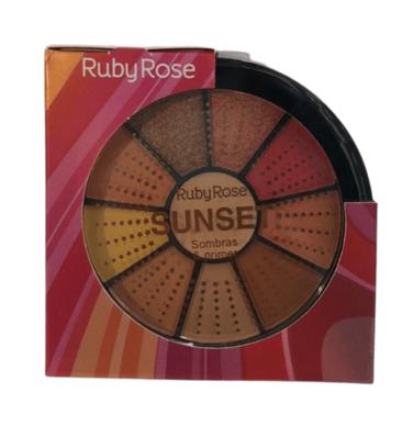 Kit de 9 Sombras e 1 Primer Ruby Rose (HB9986/3)