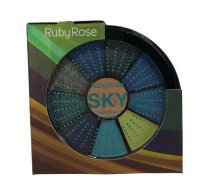 Kit de 9 Sombras e 1 Primer Ruby Rose (HB9986/5)