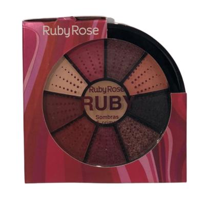 Kit de 9 Sombras e 1 Primer Ruby Rose (HB9986/8)
