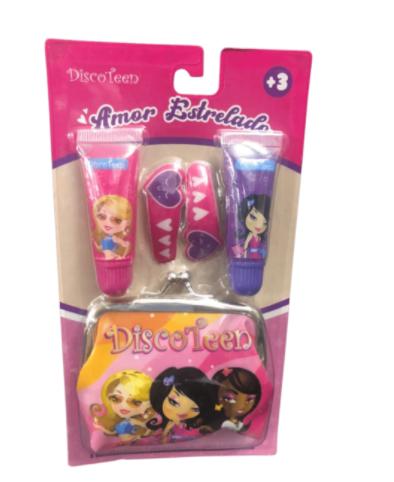 Kit Infantil Brilho Labial e Acessórios - Discoteen (HB98348)